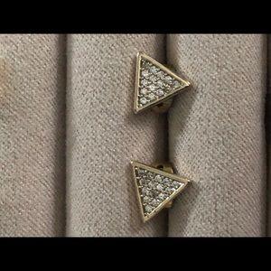 Sophie Harper Pave Triangle Studs